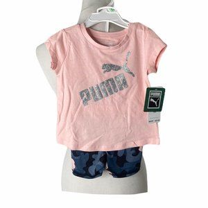 **NWT Infant girls puma two piece summer outfit